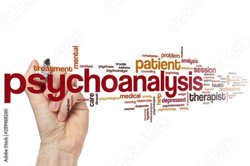 Psychoanalysis word cloud Fototapet