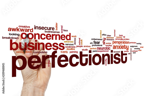 Fotografie, Tablou Perfectionist word cloud