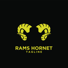 Rams Abstract Logo With Black ...