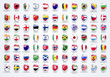 Vector World Flags Shield Collection. Web Element.