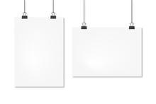 Sheets A4 Hanging Mockup Set, ...
