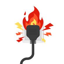 Fire Rosette On Fire, Vector In Flat