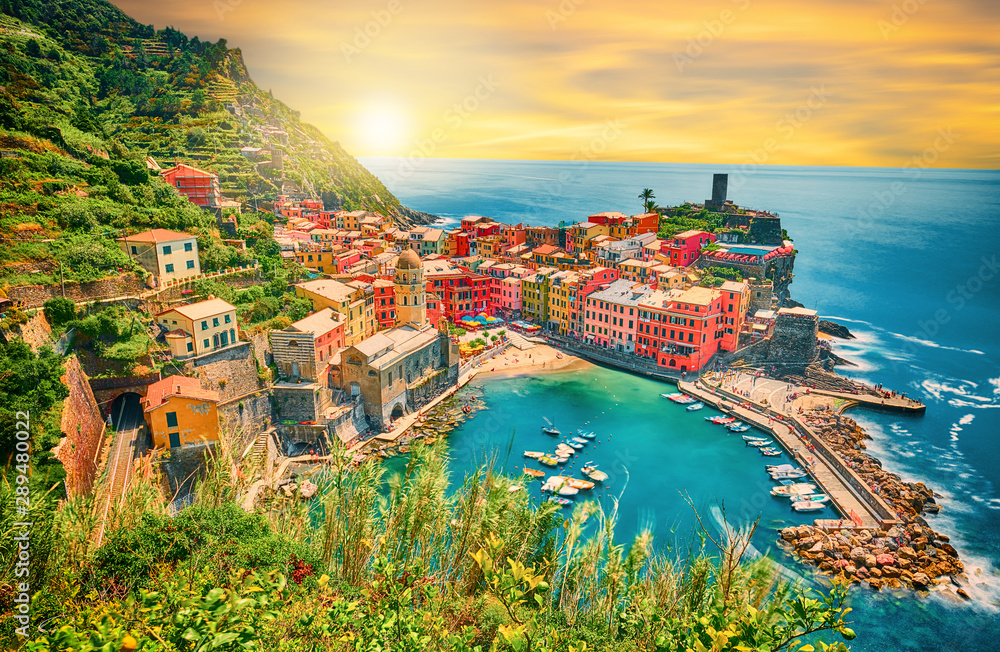 Fototapety, obrazy: Vernazza - One of five cities in cinque terre, Italy