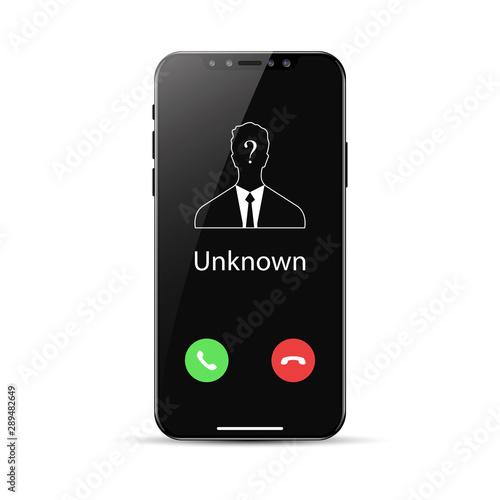 Unknown number calling. Obraz na płótnie