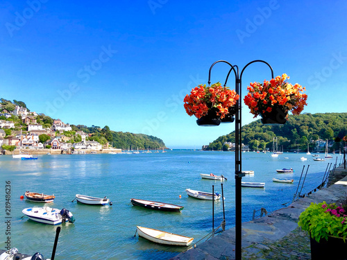 Photo sur Aluminium Amérique du Sud Panorama of Bayard's Cove Dartmouth Devon where the Pilgrim Fathers sailed from to the Americas, an area of outstanding beauty the South Hams in the Wast Country of England