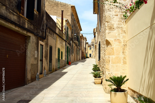 The historic city of Alcudia on the island of Majorca