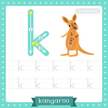 Letter K Lowercase Tracing Pra...