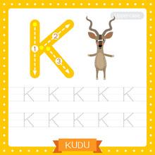 Letter K Uppercase Tracing Pra...