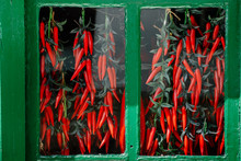 Red Pepper And Green Window
