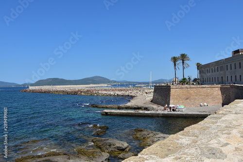 Fototapeta Alghero mury obronne starego miasta sardynia obraz