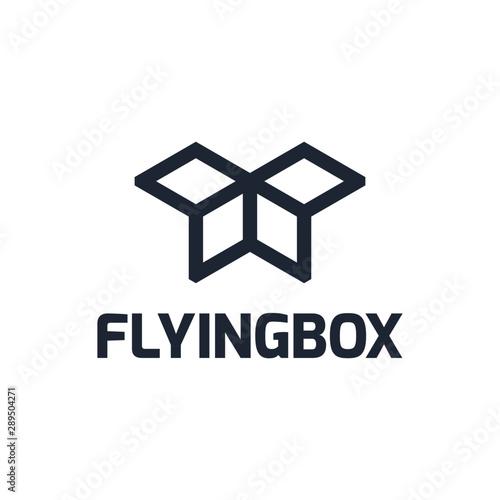 Fotografie, Obraz  flyingbox logo template for your business logo