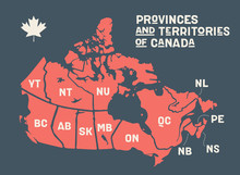 Map Canada. Poster Map Of Prov...