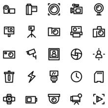 Camera Icon Set Vector Image
