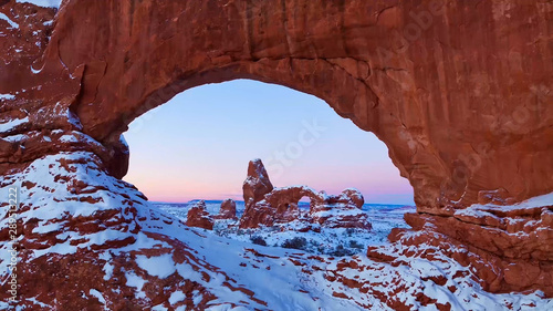 Photo sur Aluminium Bordeaux delicate arch in arches national park