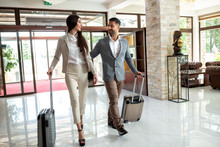 Business Travel Companions Arriving At Their Destination