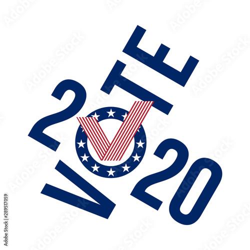 Valokuvatapetti vote 2020 united states style check mark, vector illustration