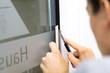 Leinwanddruck Bild - Folie schneiden / Fensterfolie / Werbetechnik