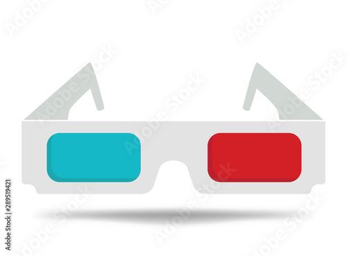 Photo Cartoon glasses for the cinema