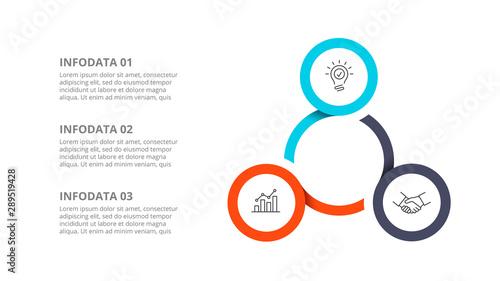 Fotografia Cyclic diagram infographic with circles