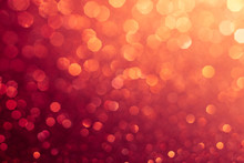 Red Abstract Bokeh Background For Sparkle Design