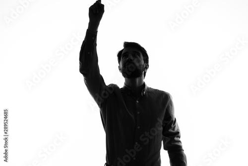 Fotografie, Tablou  silhouette of a man