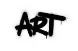 Fototapeta Młodzieżowe - graffiti art word sprayed in black over white