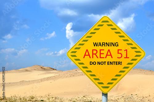 Photo Top-secret US Air Force base Area 51