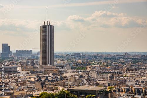 Poster de jardin Paris Modern Tower seen from the roof of the Arc de Triomphe in Paris