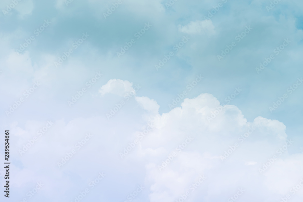 Fototapeta Cloud background with a pastel colour