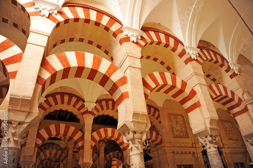 Inside the famous Mosque of Cordoba (Mezquita de Córdoba) World Heritage Site by Unesco, one of the most visited monuments of Andalusia and Spain Fototapet