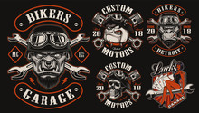 Set Of Vector Designs For Bike...