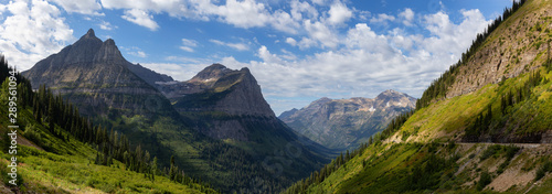 Fotografie, Obraz  Beautiful Panoramic View of American Rockies from a viewpoint during a sunny summer day