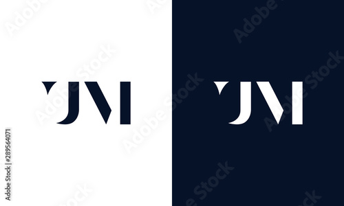 Photo Abstract letter UM logo