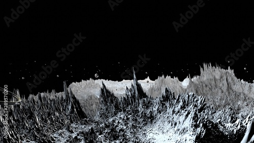 Fotografia  3d render of abstract planet surface