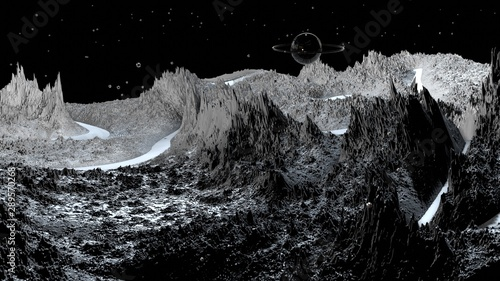 Papel de parede  3d render of abstract planet surface