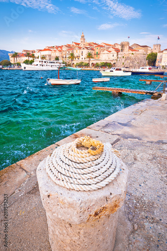 Valokuva  Historic town of Korcula vertical view
