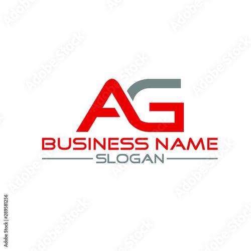 AG Letter Logo Design Vector Template Wallpaper Mural