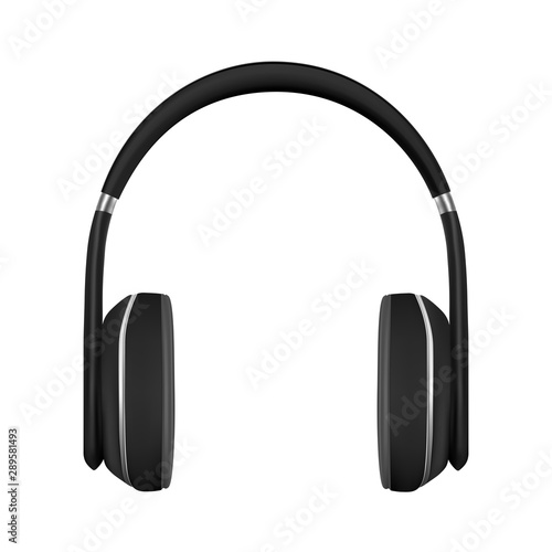 Headphones in vector on white background Fototapeta