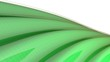 canvas print picture - Green waving surface background - 3d rendering illustration