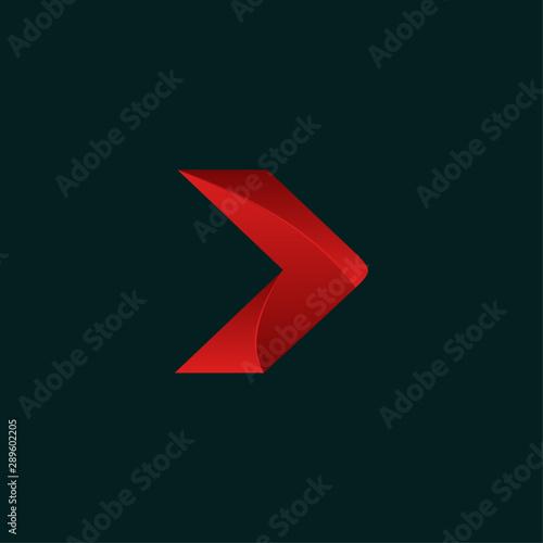 Obraz na plátně  Arrow Next Creative Modern Technology Logo