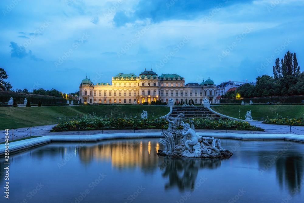 Fototapety, obrazy: upper belvedere palace reflections
