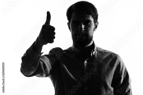 Fotografie, Tablou young man with a gun