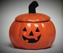 Ceramic Halloween Jack O Lantern