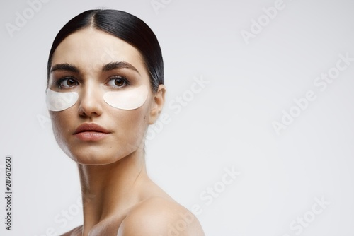Fotografie, Tablou portrait of young woman with clear skin