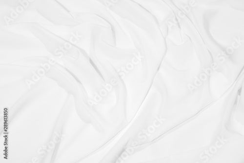 Obraz na plátně  Abstract soft image of white silk fabric, cloth surface background