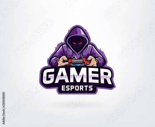 Cuadros en Lienzo Gamer mascot logo design vector