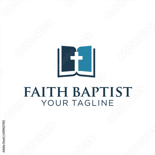 Canvas Print Faith Baptist Logo Design Inspiration
