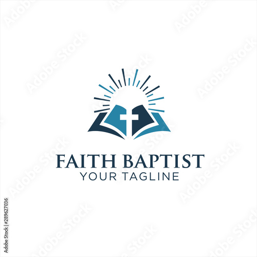 Faith Baptist Logo inpiration Design Fototapete