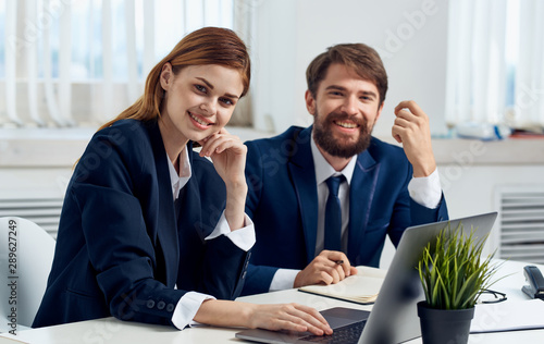 business people in office Poster Mural XXL