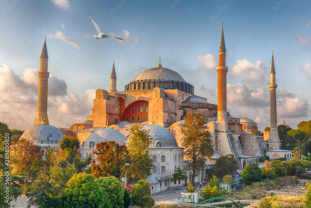 Fototapety, obrazy: Hagia Sophia in Istanbul, Turkey, wonderful sunny view